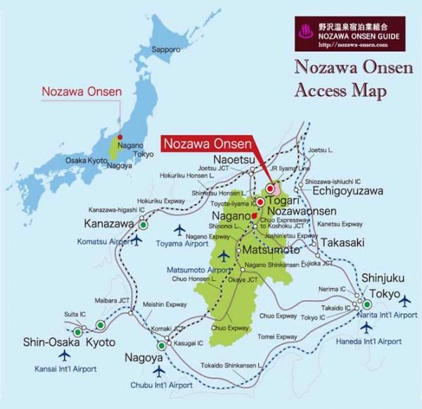 Nozawa Onsen Maps