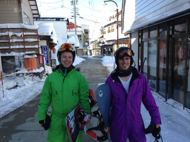 Dan from the Stay Bar and Luke from Lodge Nagano off to that important board meeting. Dressed to impress