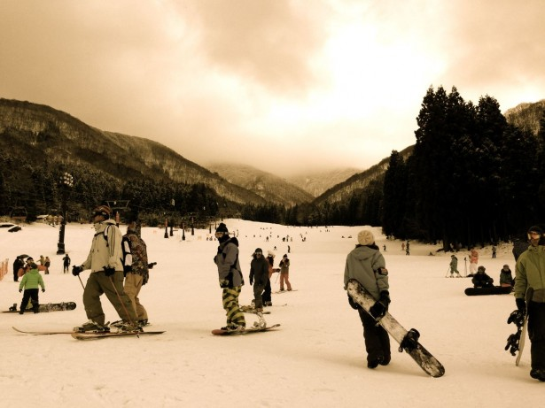 Nagasaka slopes will be a different scene tonight with fireworks for the New Year