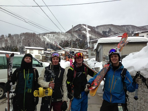 The boys from Sweden. Staying in Nozawa for two months!