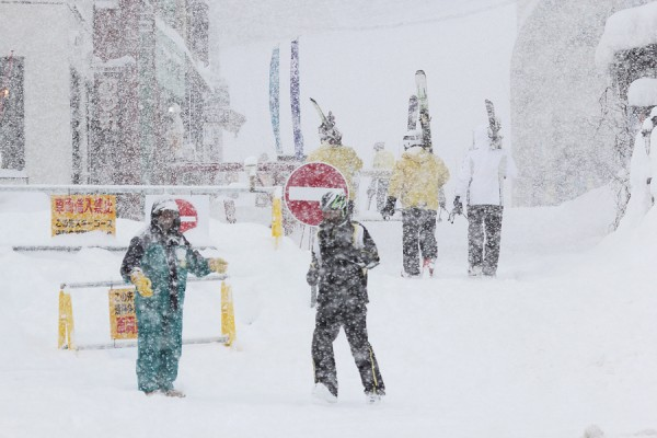 Thick flakes yesterday at Nozawa Onsen.