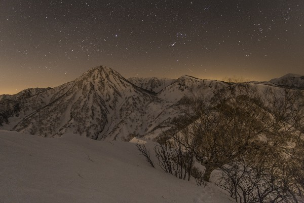 Night scene near Myoko April last year.