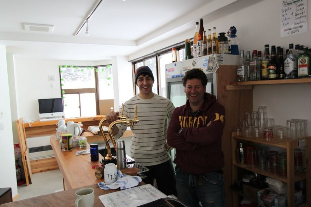 Dave and Max at the Craft Room always at the ready with a beer and a chat