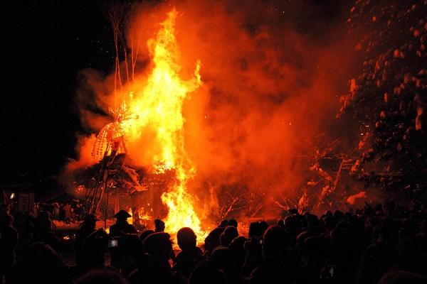 Nozawa Onsen fire festival 2013.