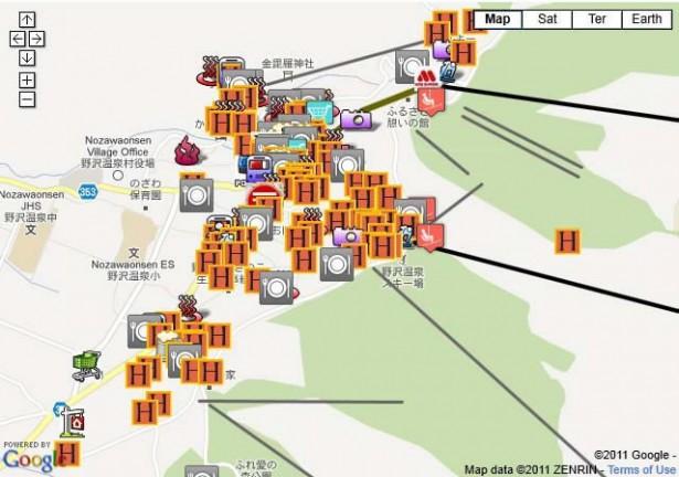 Nozawa Onsen Hotel Map