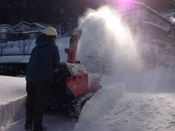 Love the sound of a snow blower in the morning
