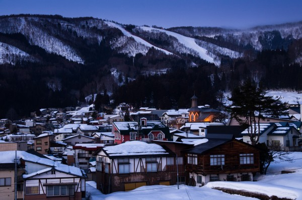 The beautiful Nozawa Onsen at sunset last night