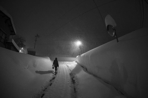 A winters night in Nozawa Onsen.