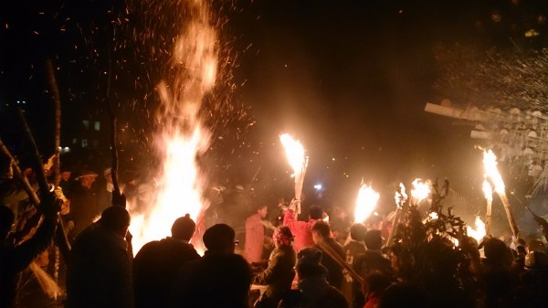 Nozawa Fire Festival, Nozawa Onsen Dosojin Matsuri